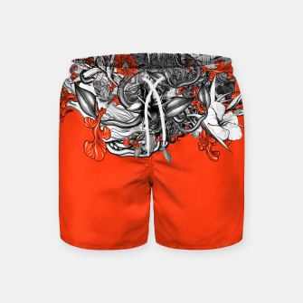 Miniatur Flower Power Orange Swim Shorts, Live Heroes