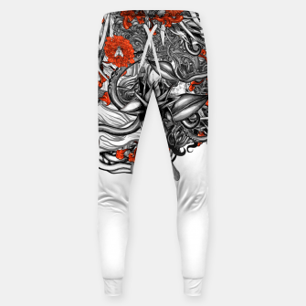 Miniatur Flower Power White Sweatpants, Live Heroes
