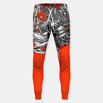 Miniatur Flower Power Orange Sweatpants, Live Heroes