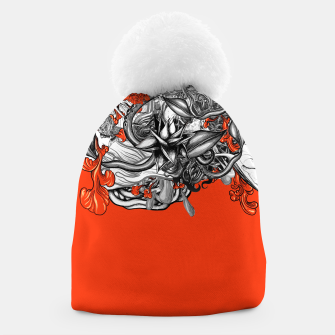 Miniatur Flower Power Orange Beanie, Live Heroes
