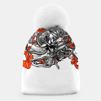 Thumbnail image of Flower Power White Beanie, Live Heroes