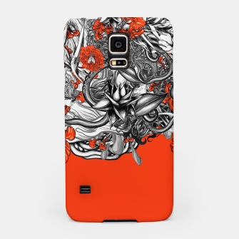Miniatur Flower Power Orange Samsung Case, Live Heroes