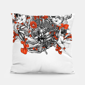 Miniatur Flower Power White Pillow, Live Heroes
