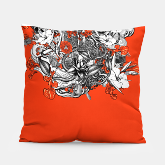 Miniatur Flower Power Orange Pillow, Live Heroes