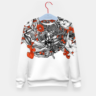Miniatur Flower Power White Kid's sweater, Live Heroes