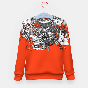 Miniatur Flower Power Orange Kid's sweater, Live Heroes