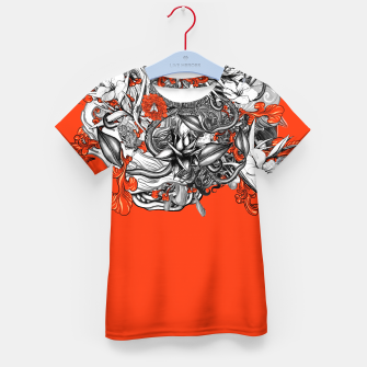 Miniatur Flower Power Orange Kid's t-shirt, Live Heroes