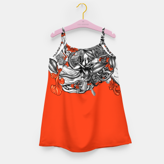 Miniatur Flower Power Orange Girl's dress, Live Heroes