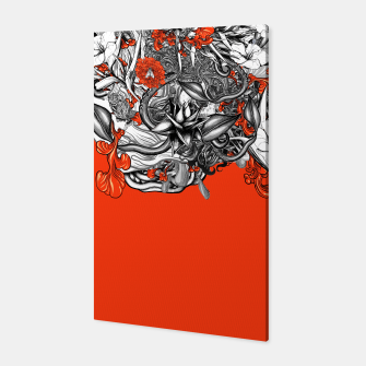 Miniatur Flower Power Orange Canvas, Live Heroes