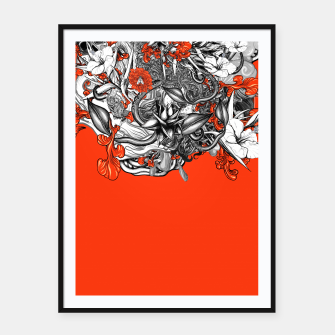 Miniatur Flower Power Orange Framed poster, Live Heroes