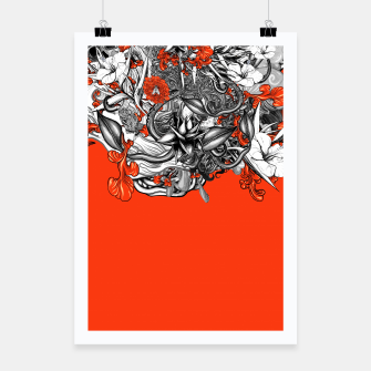 Miniatur Flower Power Orange Poster, Live Heroes