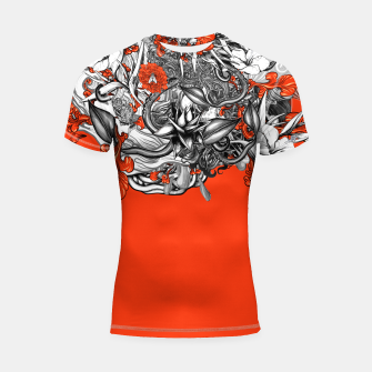 Miniatur Flower Power Orange Shortsleeve rashguard, Live Heroes