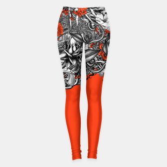 Miniatur Flower Power Orange Leggings, Live Heroes