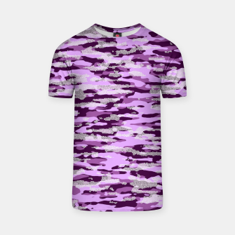 Thumbnail image of Purple Camouflage Pattern Mosaic Style T-Shirt, Live Heroes