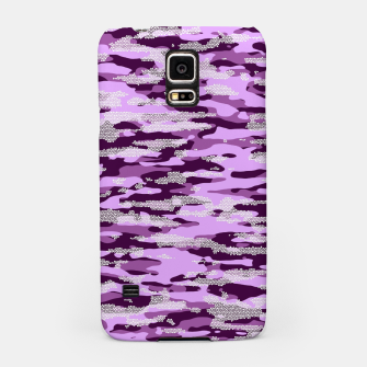 Thumbnail image of Purple Camouflage Pattern Mosaic Style Handyhülle für Samsung, Live Heroes