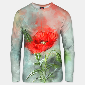 Miniatur Red Poppy Unisex sweater, Live Heroes
