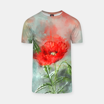 Miniatur Red Poppy T-shirt, Live Heroes