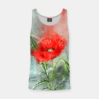Miniatur Red Poppy Tank Top, Live Heroes