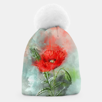 Miniatur Red Poppy Beanie, Live Heroes