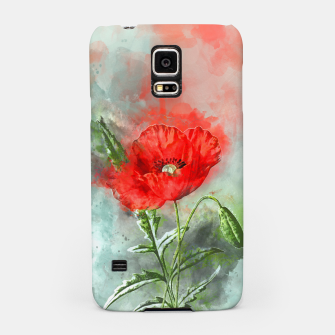 Miniatur Red Poppy Samsung Case, Live Heroes