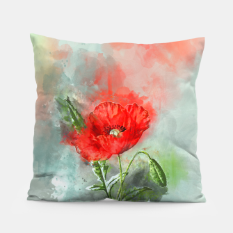 Miniatur Red Poppy Pillow, Live Heroes