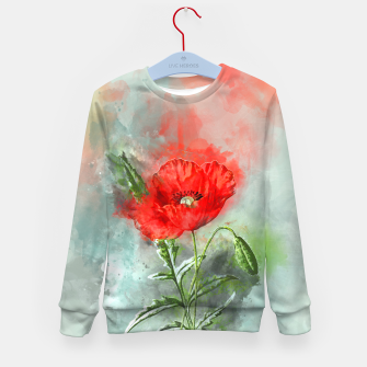 Miniatur Red Poppy Kid's sweater, Live Heroes