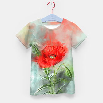 Miniatur Red Poppy Kid's t-shirt, Live Heroes