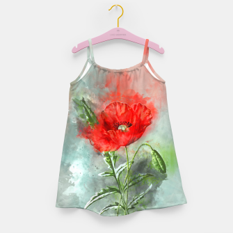 Miniatur Red Poppy Girl's dress, Live Heroes