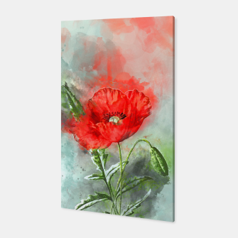 Miniatur Red Poppy Canvas, Live Heroes