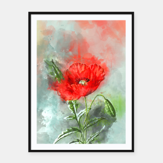 Miniatur Red Poppy Framed poster, Live Heroes
