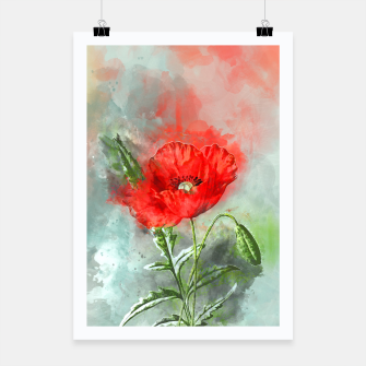 Miniatur Red Poppy Poster, Live Heroes