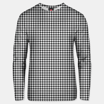 Thumbnail image of Dogtooth pattern Unisex sweater, Live Heroes