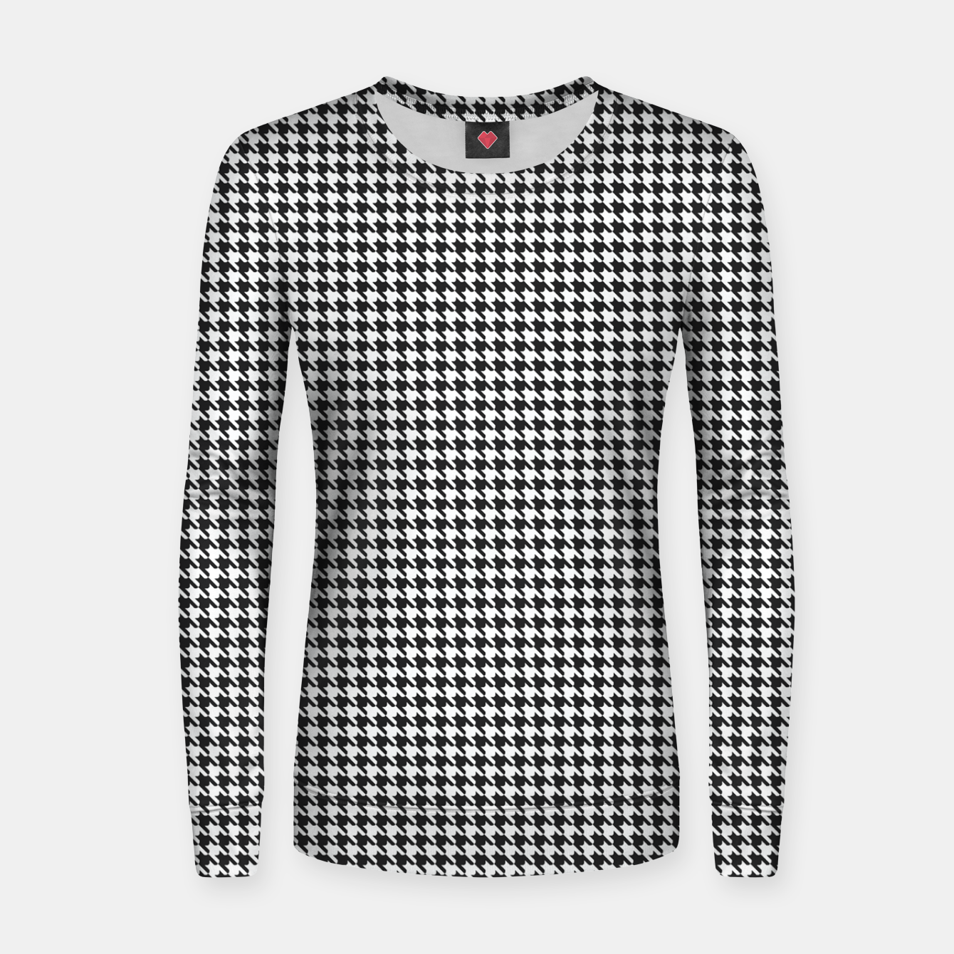 Image of Dogtooth pattern Women sweater - Live Heroes
