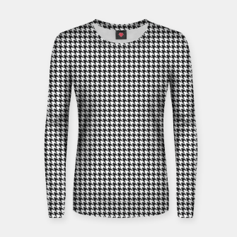 Miniatur Dogtooth pattern Women sweater, Live Heroes
