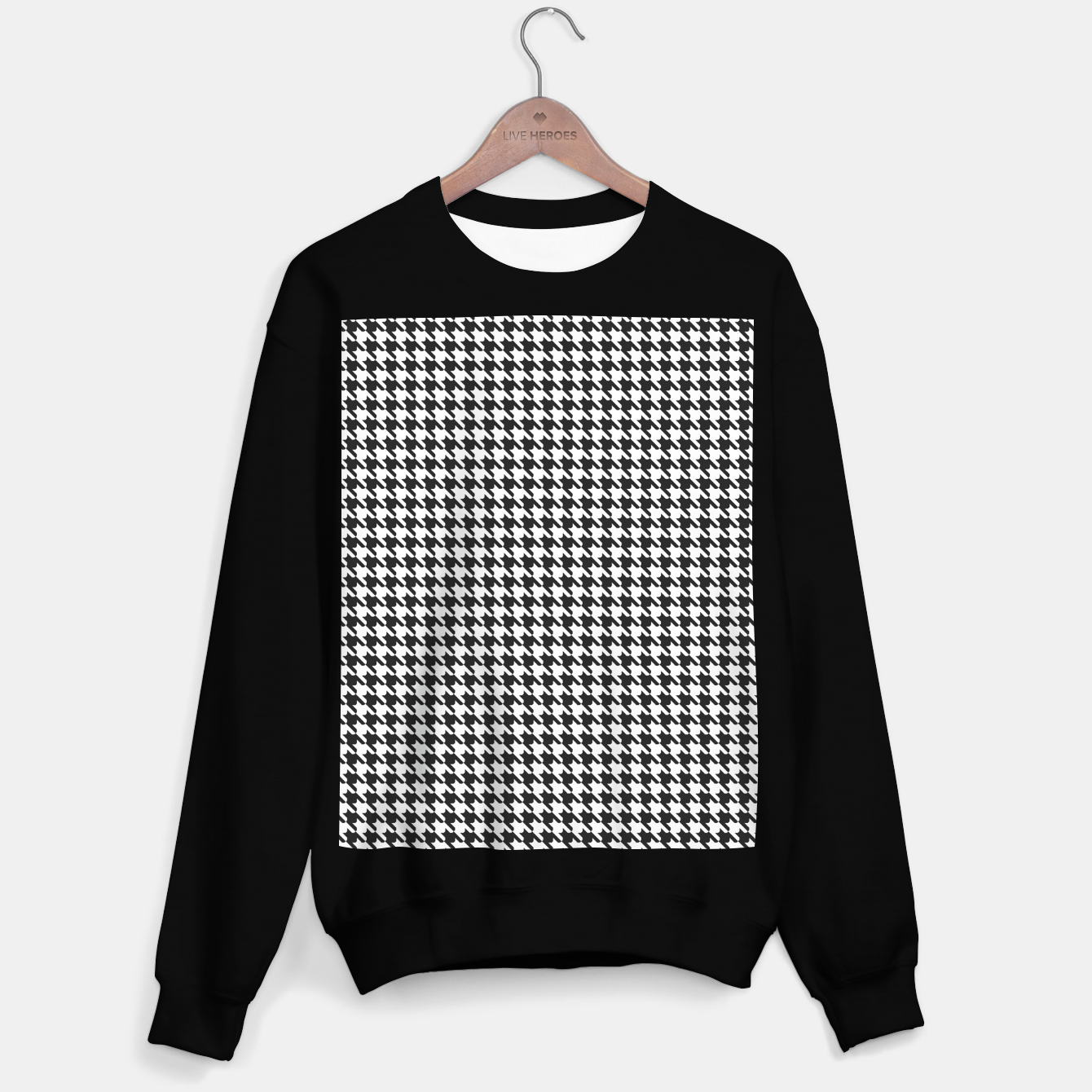 Foto Dogtooth pattern Sweater regular - Live Heroes