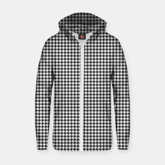 Dogtooth pattern Zip up hoodie Bild der Miniatur