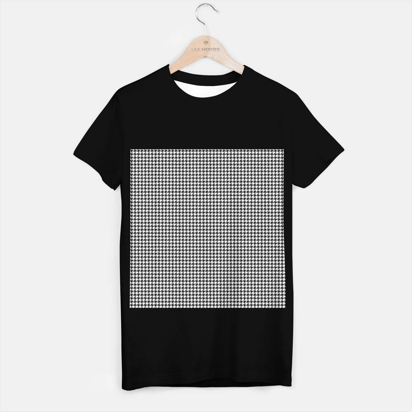 Image of Dogtooth pattern T-shirt regular - Live Heroes