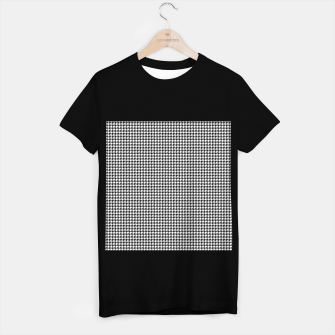 Miniatur Dogtooth pattern T-shirt regular, Live Heroes