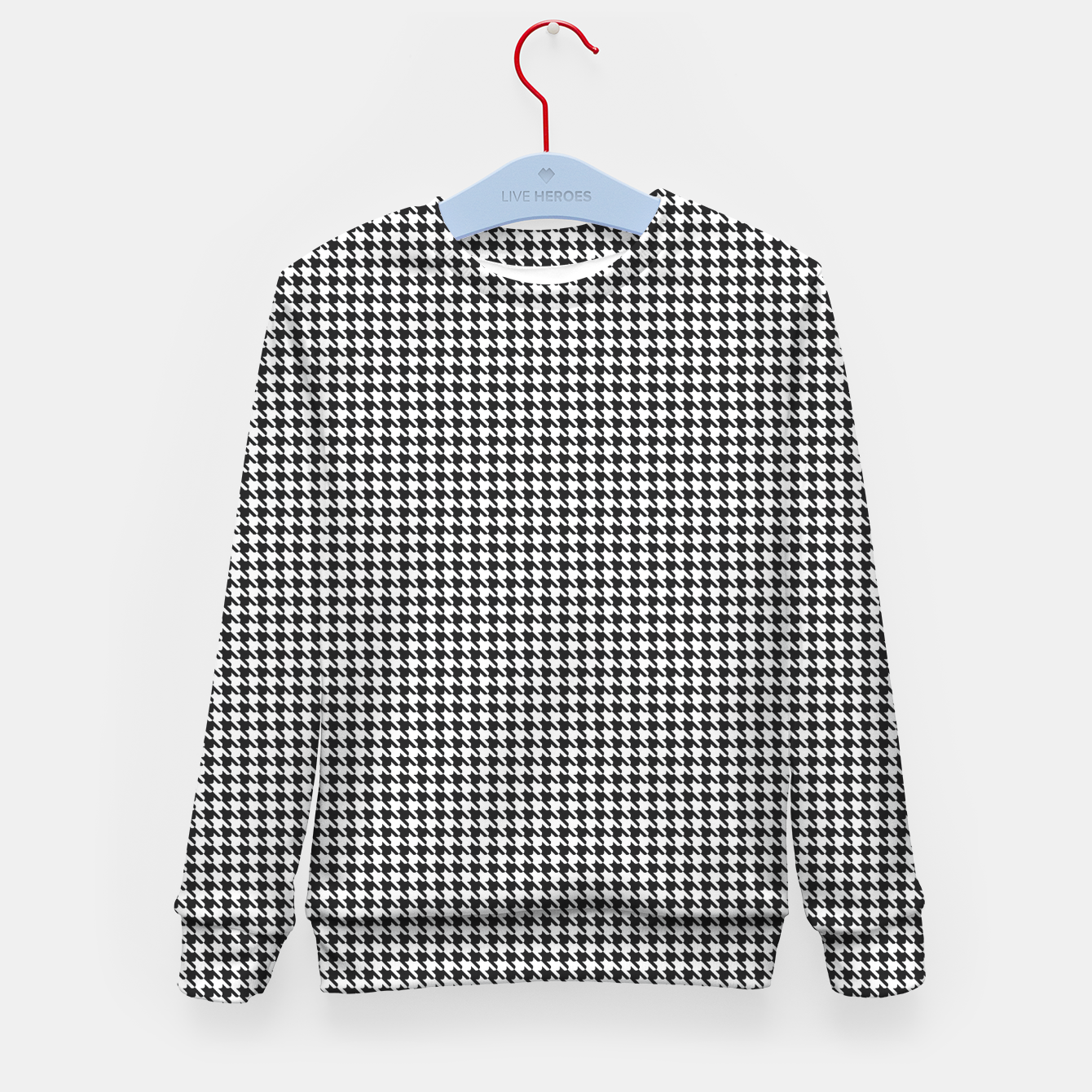 Foto Dogtooth pattern Kid's sweater - Live Heroes