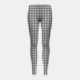 Miniatur Dogtooth pattern Girl's leggings, Live Heroes