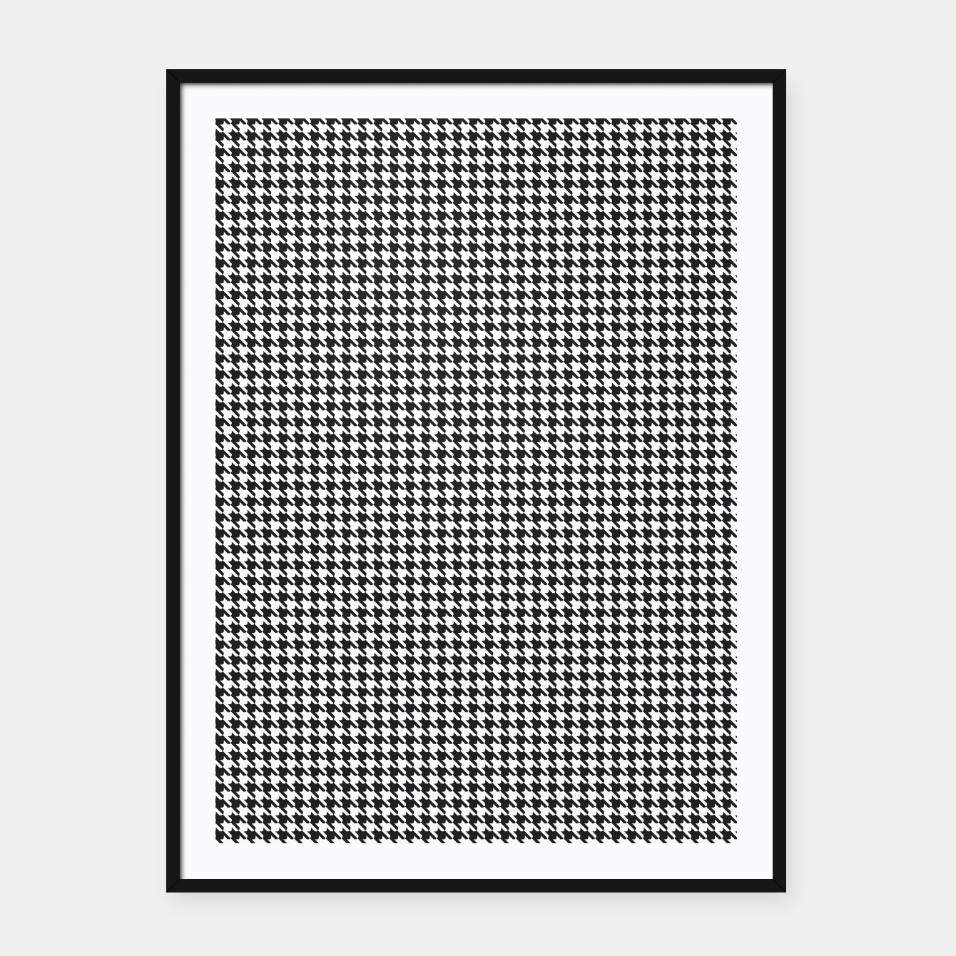 Foto Dogtooth pattern Framed poster - Live Heroes