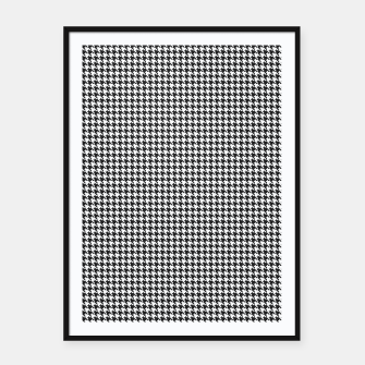 Thumbnail image of Dogtooth pattern Framed poster, Live Heroes