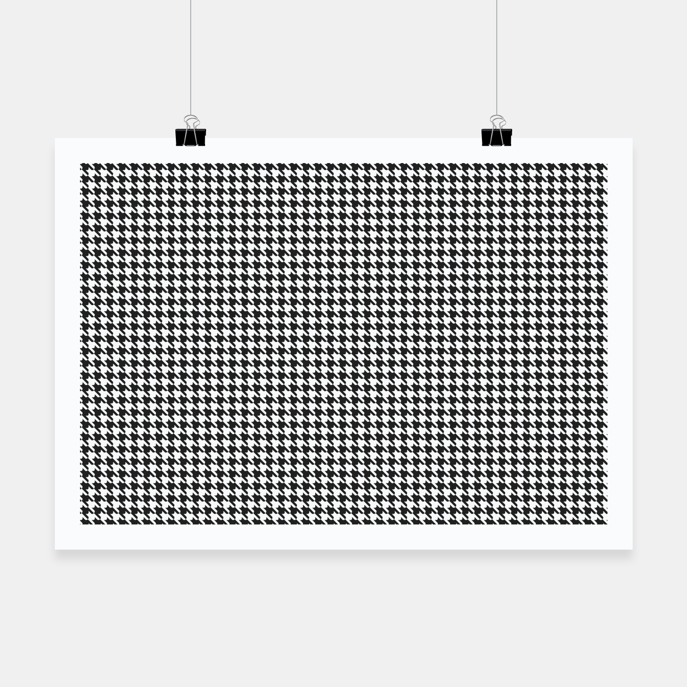 Foto Dogtooth pattern Poster - Live Heroes