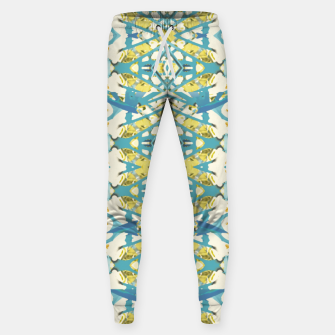 Miniatur Colored Geometric Ornate Patterned Print Sweatpants, Live Heroes