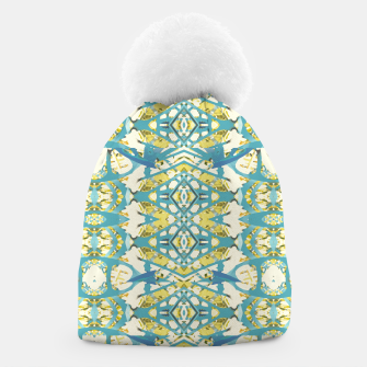 Miniatur Colored Geometric Ornate Patterned Print Beanie, Live Heroes