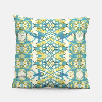 Thumbnail image of Colored Geometric Ornate Patterned Print Pillow, Live Heroes
