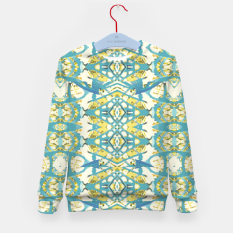 Thumbnail image of Colored Geometric Ornate Patterned Print Kid's sweater, Live Heroes
