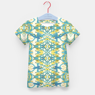 Thumbnail image of Colored Geometric Ornate Patterned Print Kid's t-shirt, Live Heroes
