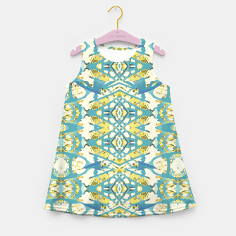 Thumbnail image of Colored Geometric Ornate Patterned Print Girl's summer dress, Live Heroes