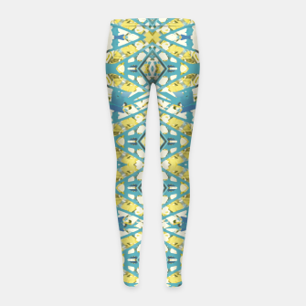 Thumbnail image of Colored Geometric Ornate Patterned Print Girl's leggings, Live Heroes